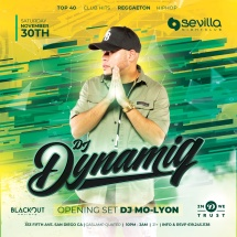 SEVILLA SATURDAYS WITH DJ DYNAMIQ