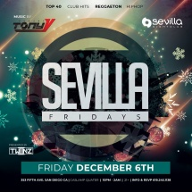 SEVILLA FRIDAYS with TONY V