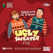 UGLY SWEATER PARTY with FURROSHUS X Q DA HYPEMAN