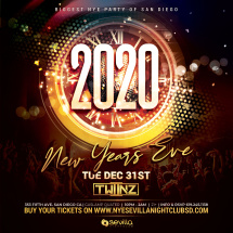 Biggest Downtown San Diego New Years Eve Party