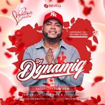 SATURDAY NIGHT PARTY WITH DJ DYNAMIQ - VALENTINE'S WEEKEND