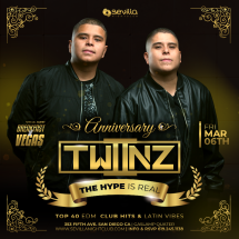 TWIINZ - 1st Anniversary Celebration - Don't Miss Out