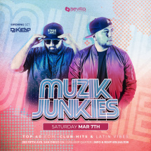 SATURDAY NIGHT PARTY WITH MUZIK JUNKIES