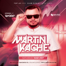 SATURDAY NIGHT PARTY WITH DJ MARTIN KACHE
