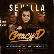 SEVILLA FRIDAYS with GRACY D in the mix