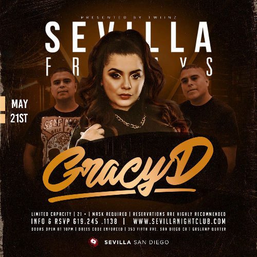 Event: SEVILLA FRIDAYS with GRACY D in the mix | Date: 2021-05-21