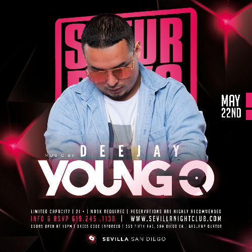 Event: DJ YOUNG-O in the mix Saturday Nights | Date: 2021-05-22