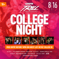 College Night at Bassmnt Trill Thursday 8/16