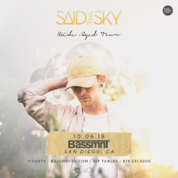 Said The Sky at Bassmnt Saturday 10/6
