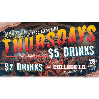 Throwdown Thursdays at Moonshine Beach, Thursday, October 25th, 2018