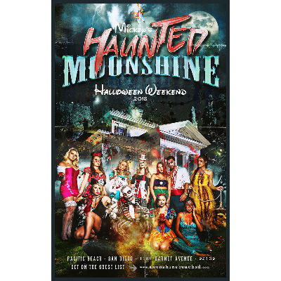 Mickey's Haunted Moonshine with Martin McDaniel at Moonshine Beach, Saturday, October 27th, 2018