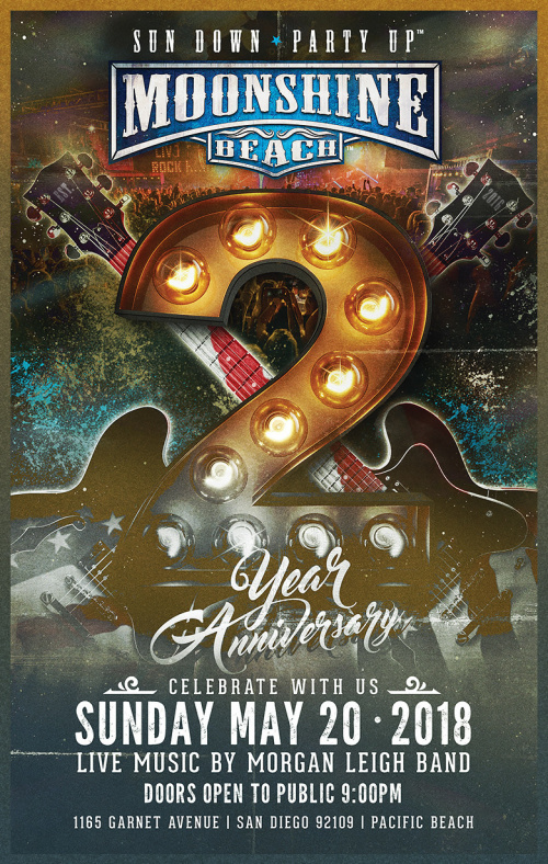 2-Year Anniversary Party with Morgan Leigh Band - Moonshine Beach