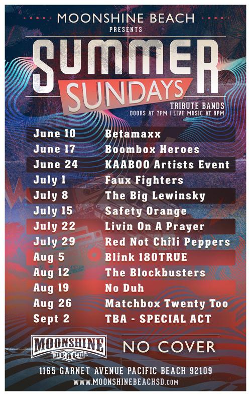 Summer Sundays with The Big Lewinsky LIVE at Moonshine Beach - Moonshine Beach