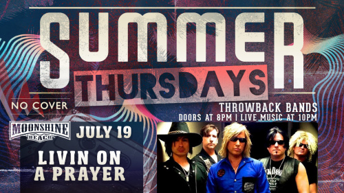 Summer Thursdays with Livin' On A Prayer LIVE at Moonshine Beach - Moonshine Beach