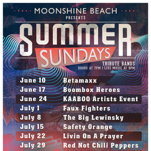 Summer Sundays with Red Not Chili Peppers LIVE at Moonshine Beach