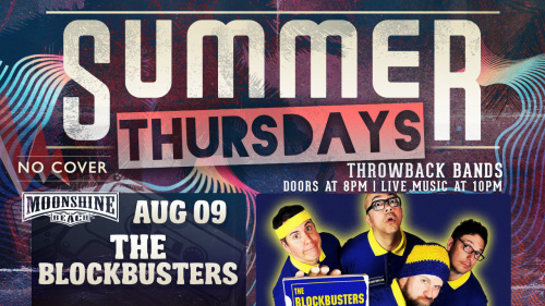 Summer Thursdays with The Blockbusters LIVE at Moonshine Beach - Moonshine Beach