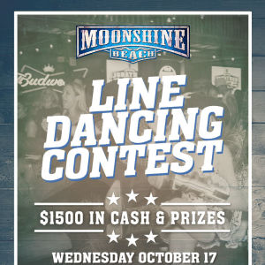 Line Dancing Contest at Moonshine Beach, Wednesday, October 17th, 2018