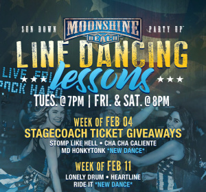 Taco Tuesday and Line Dancing Lessons at Moonshine Beach, Tuesday, June 2nd, 2020