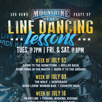 Line Dancing Lessons at Moonshine Beach