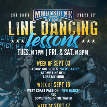 Taco Tuesday and Line Dancing Lessons at Moonshine Beach