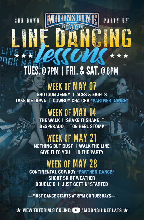 Line Dancing Lessons at Moonshine Beach - Moonshine Beach