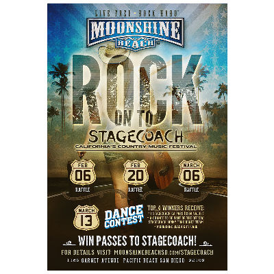 Stagecoach Giveaways at Moonshine Beach, Wednesday, February 27th, 2019