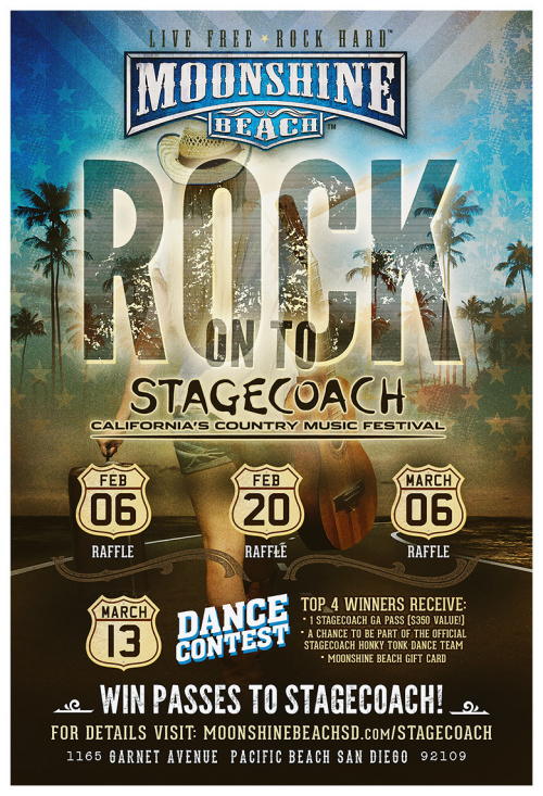 Stagecoach Giveaways at Moonshine Beach - Moonshine Beach