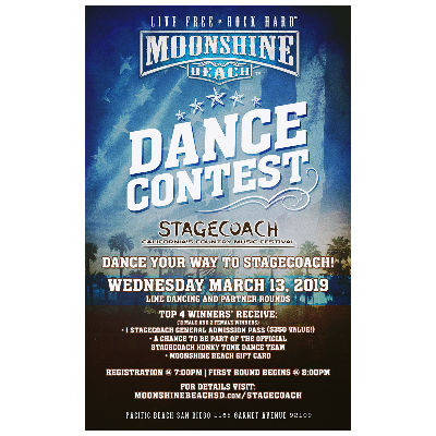 Stagecoach Dance Contest at Moonshine Beach, Wednesday, March 13th, 2019