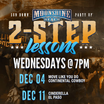 Wild Country Wednesdays and 2-Step Lessons at Moonshine Beach