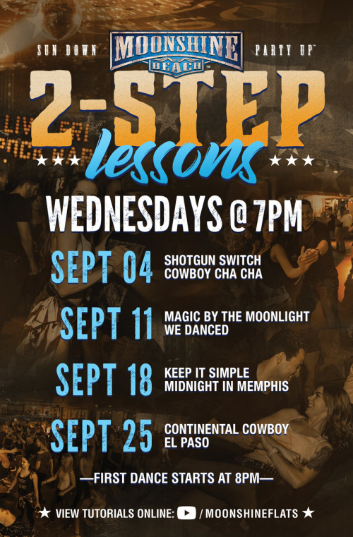 Wild Country Wednesdays and 2-Step Lessons at Moonshine Beach - Moonshine Beach