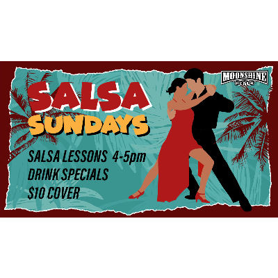 Salsa Sundays at Moonshine Beach, Sunday, February 24th, 2019