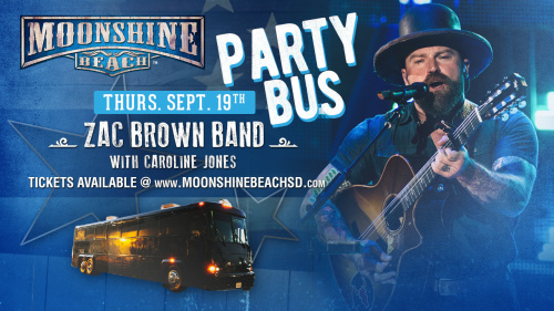 Party Bus to Zac Brown Band from Moonshine BEACH - Moonshine Beach