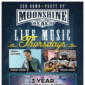 Glow Party with Megan Ruger at Moonshine Beach, Thursday, May 23rd, 2019