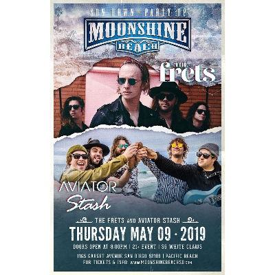 The Frets and Aviator Stash Live at Moonshine Beach, Thursday, May 9th, 2019