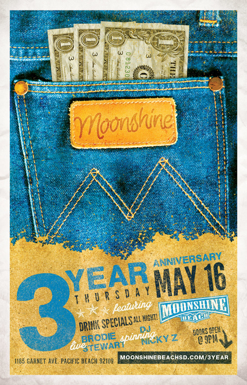 3rd Anniversary Party with Brodie Stewart Band - Moonshine Beach
