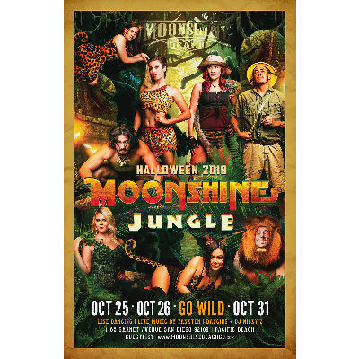 MOONSHINE JUNGLE - HALLOWEEN 2019, Friday, October 25th, 2019