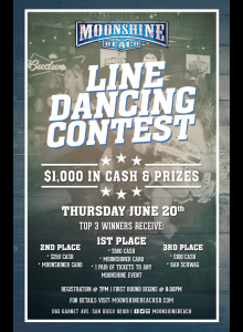 Line Dancing Contest at Moonshine Beach