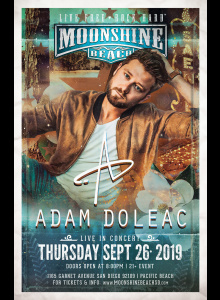 Adam Doleac Live in Concert at Moonshine Beach