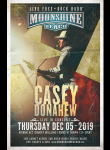 Casey Donahew with Chancey Williams Live in Concert at Moonshine Beach