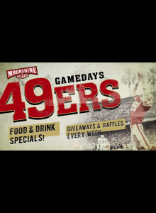 49ERS WATCH PARTY AND GIVEAWAYS AT MOONSHINE BEACH