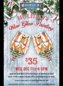 Holiday Wine Glass Painting at Moonshine Beach
