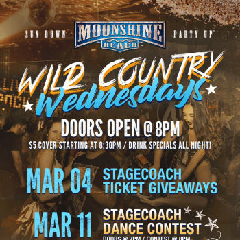 Wild Country Wednesdays at Moonshine Beach