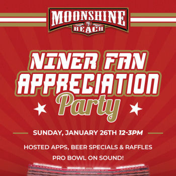 Niner Fan Appreciation Party at Moonshine Beach