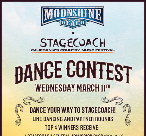 Stagecoach Dance Contest at Moonshine Beach, Wednesday, March 11th, 2020