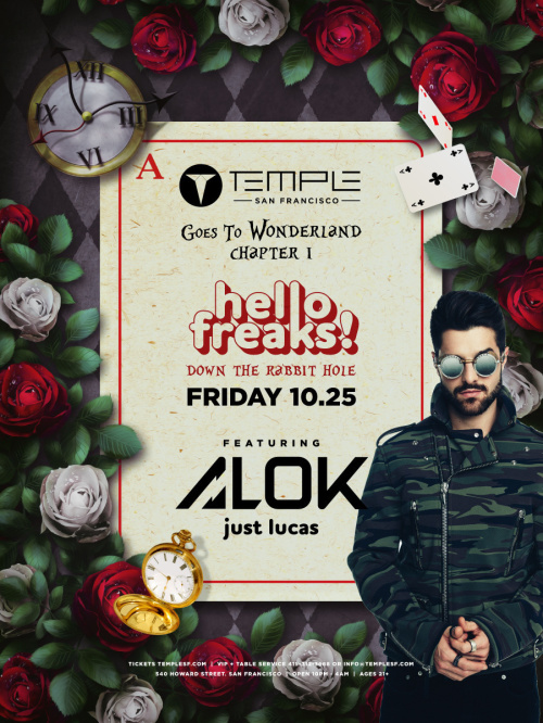 Temple Goes to Wonderland feat ALOK - Temple Nightclub