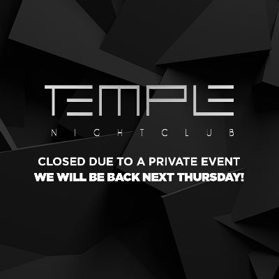 Closed Due to a Private Event, Thursday, December 12th, 2019