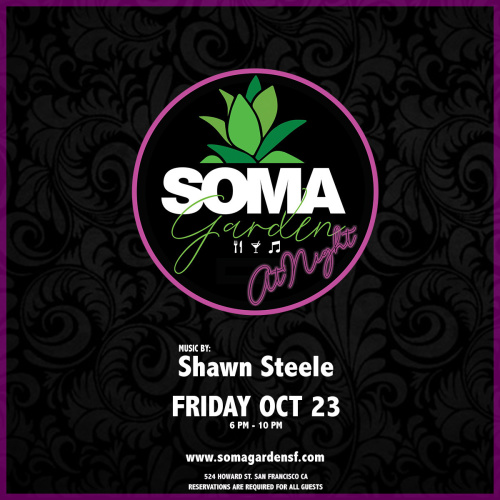 SOMA Garden at Night - Food, Drinks and Music - Temple Nightclub