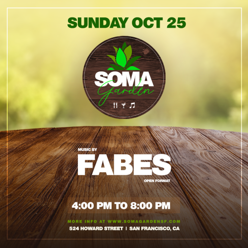 SOMA Garden at Night feat. Fabes- Food, Drinks and Music - Temple Nightclub