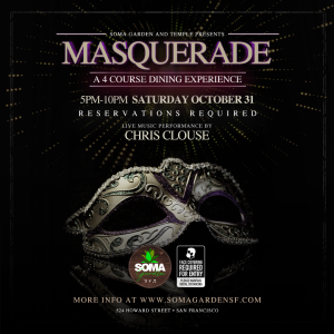 Masquerade feat. Chris Clouse - A 4 Course Dining Experience