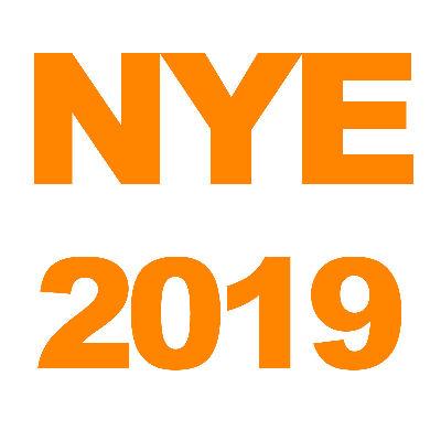 NYE 2019, Monday, December 31st, 2018